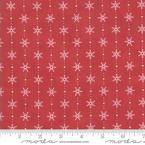Homegrown Holidays 19946 13 Red Snowflakes Moda Deb Strain