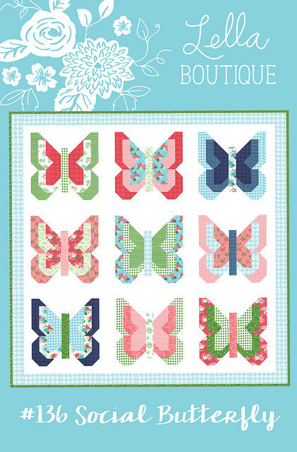 Lella Boutique SOCIAL BUTTERFLY Fat Quarter Pattern