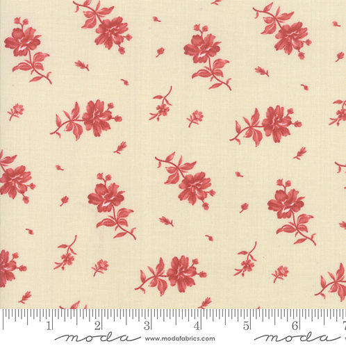 Northport 14883 13 Beige Red Floral Moda Minick & Simpson