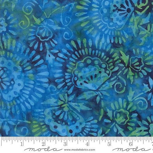 Santorini Batiks 4355 18 Blue Multi Floral Moda