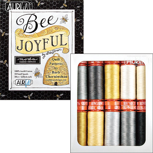 Aurifil Thread BEE JOYFUL 10 spools 50wt