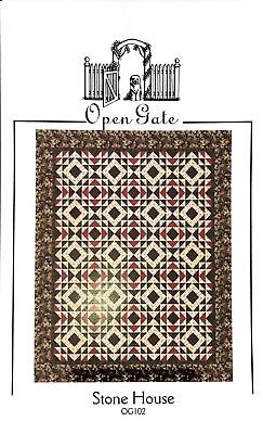 Open Gate STONE HOUSE Quilt Pattern