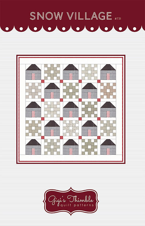 Gigi's Thimble SNOW VILLAGE Pattern