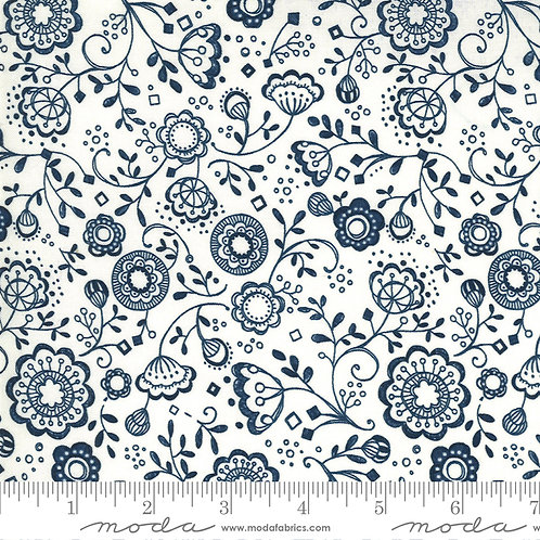 Cottage Bleu 48692 11 Cream Moda Robin Pickens