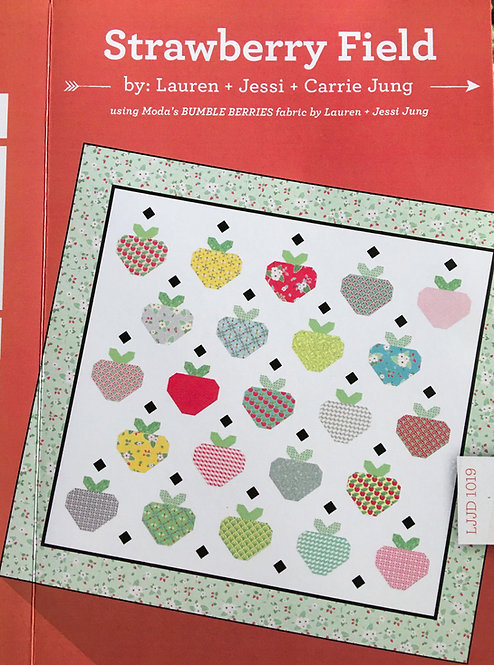 Bumble Berries STRAWBERRY FIELD Layer Cake Pattern