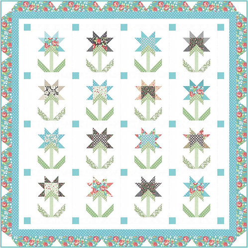 BLOOMING FLOWERS Bloomington Quilt KIT Lella PASTRY SHOP DESIGN