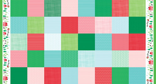 The North Pole 20581 11 Red & Green Squares Moda Stacy Hsu