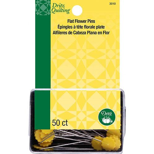 """FLAT FLOWER PINS ~ 50 Count ~ DRITZ ~ 2"""" Pins"""