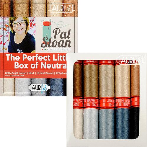 Aurifil Thread PERFECT BOX OF NEUTRALS 10 spools 50wt