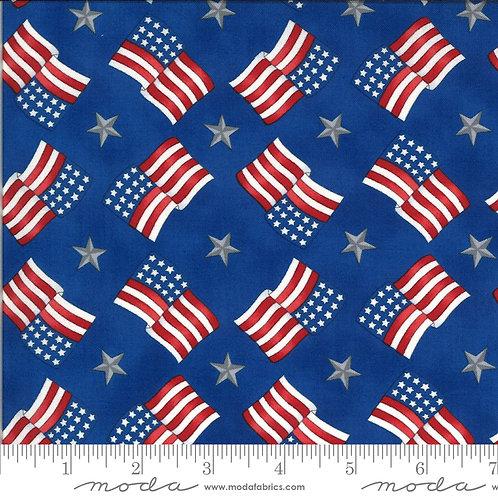 American the Beautiful 19986 14 Blue Flags Moda Deb Strain