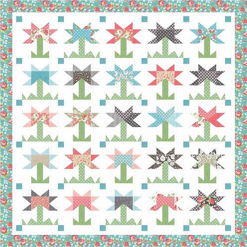 FIELD OF FLOWERS Bloomington Quilt KIT Lella PASTRY SHOP DESIGN