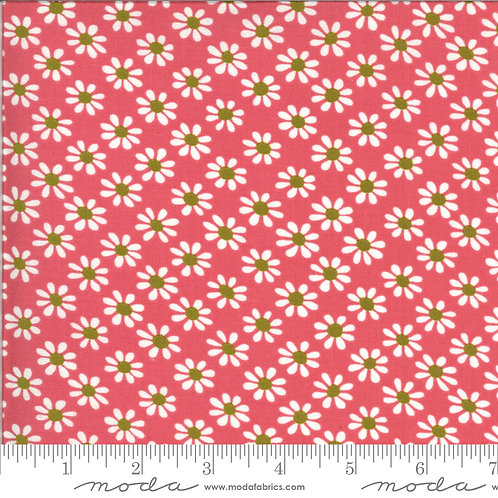 Blooming Bunch 40043 16 Red Floral Moda Maureen McCormick