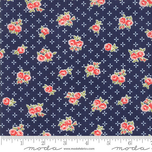 Early Bird 55191 15 Navy Pink Floral Moda Bonnie & Camille