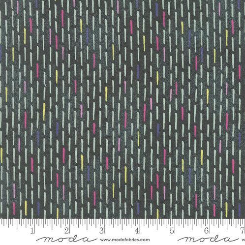 Saturday Morning 30447 20 Green Dash Moda Basic Grey