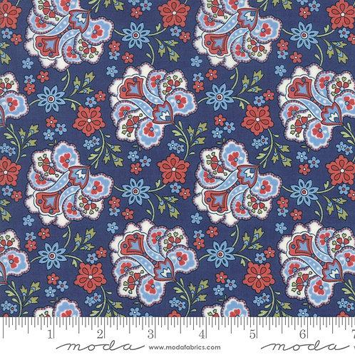 Mackinac Island 14891 15 Navy Blue Floral Paisley Moda