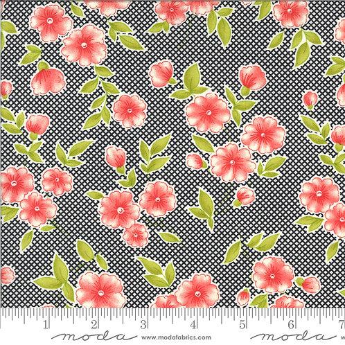 Figs & Shirtings 20390 11 Black Floral Moda Fig Tree