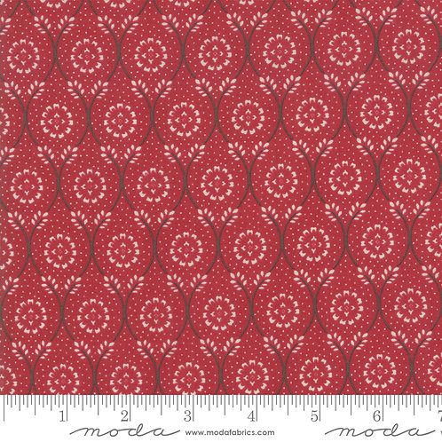 Chafarcani 13852 11 Red Beige Floral Moda French General