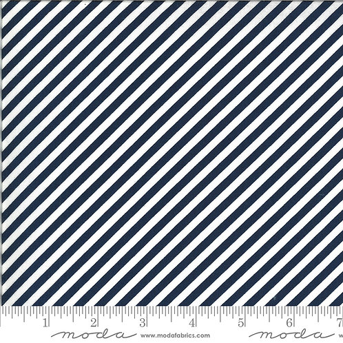 Shine On 55215 17 Navy Stripe Moda Bonnie & Camille