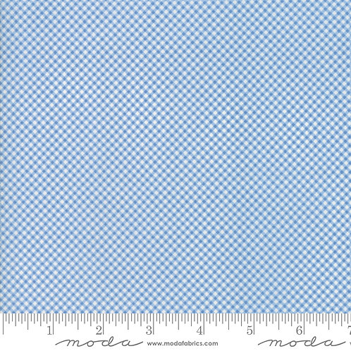 Cottontail Cottage 2926 16 Blue Check Moda Bunny Hill
