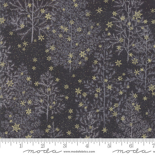 Forest Frost Glitter 33520 18MG  Black Gold Snowflakes