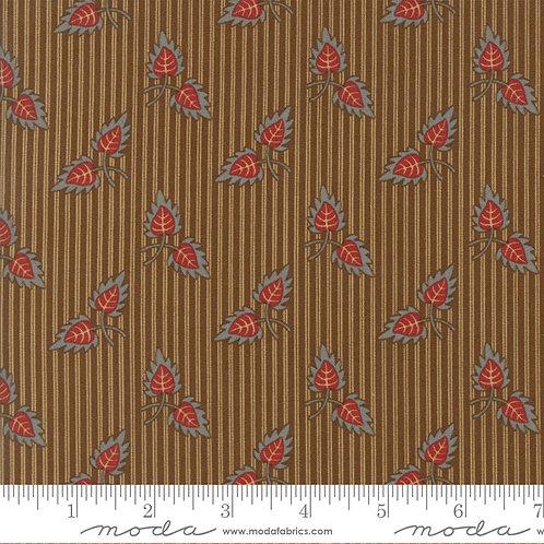 Gratitude 38001 16 Brown Stripe Leaves Moda Jo Morton