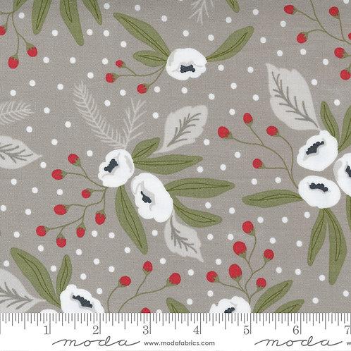 Christmas Morning 5140 13 Gray Floral Moda Lella Boutique