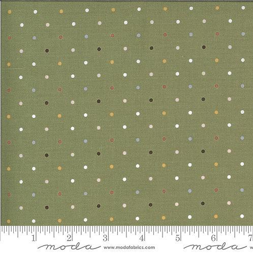Folktale 5124 15 Olive Green Polka Dot Moda Lella Boutique