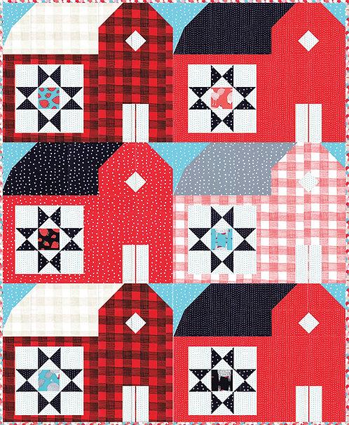 Gingiber RED BARNS Pattern
