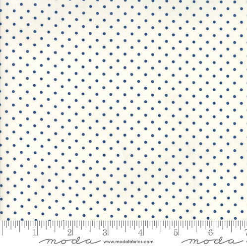 Essentially Yours 8654 157 White Navy Dots Moda