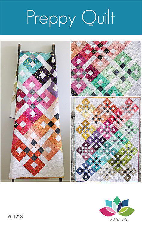 V & Co PREPPY QUILT Fat Quarter Pattern