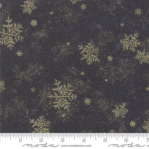 Forest Frost Glitter 33523 17MG  Black Gold Snowflakes