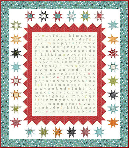 ABC STARS Animal Crackers Charm Quilt KIT Sweetwater