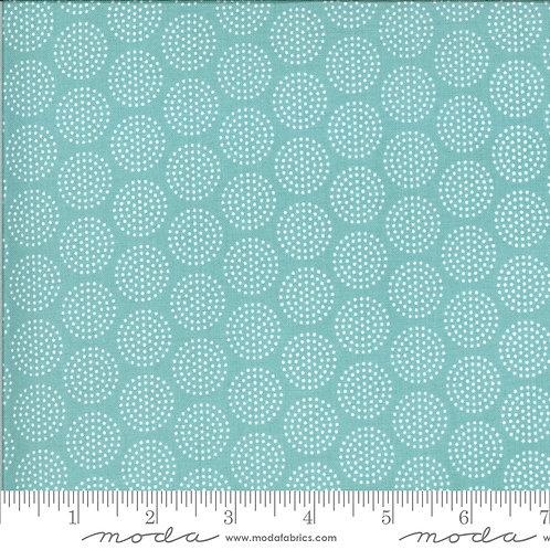 Animal Crackers 5806 13 Turquoise Dots Moda Sweetwater