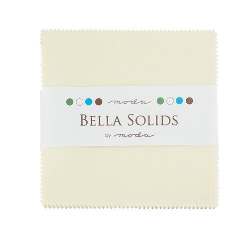 Bella Solid Snow Moda Charm Pack