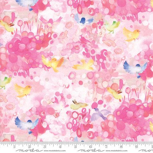 Flights of Fancy 33462 15 Pink Floral Moda Momo