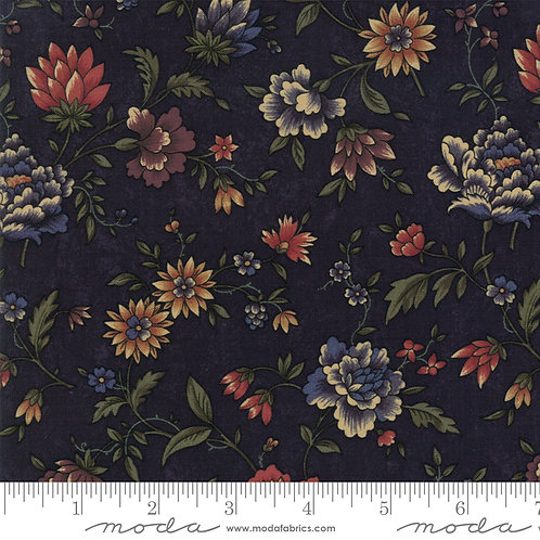 Through the Years 9620 14 Navy Blue Floral Moda Kansas Troubles