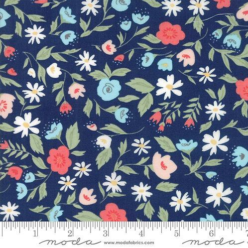 Garden Variety 5070 12 Navy Blue Floral