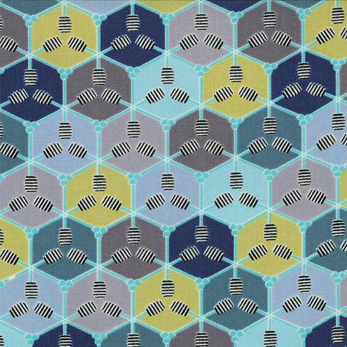 Bee My Honey 11625 22 Blue Honeycombs