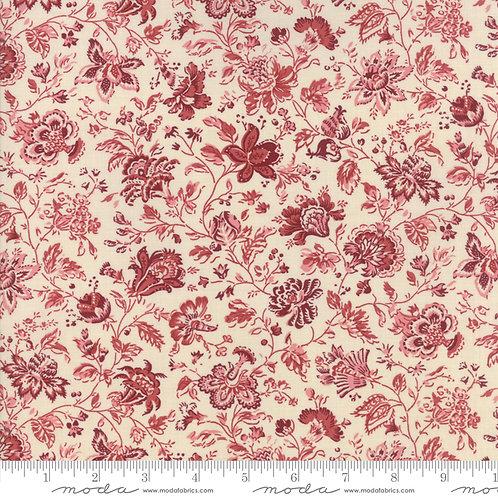 Jardin de Versailles 13814 12 Beige Red Floral Moda French General