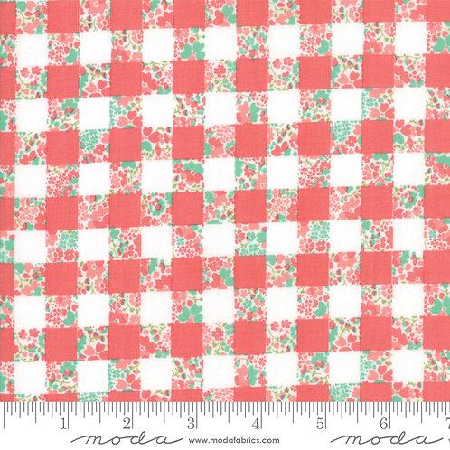 Strawberry Jam 29063 21 Coral Pink Check Moda Corey Yoder