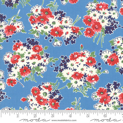 Good Times 21771 17 Blue Red Floral Moda AMERICAN JANE