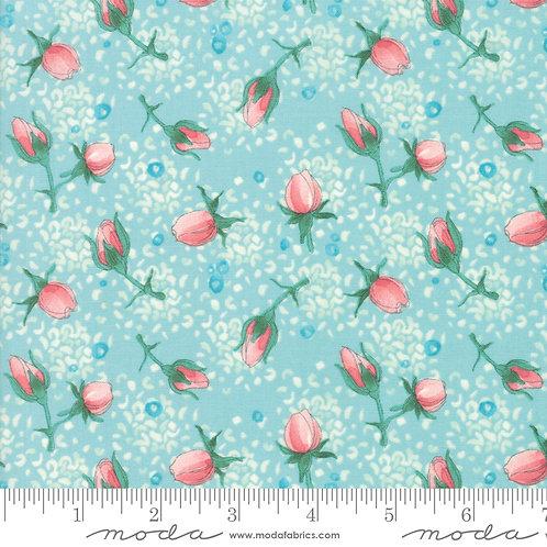 Abby Rose 48672 15 Seafoam Blue Floral Moda Robin Pickens