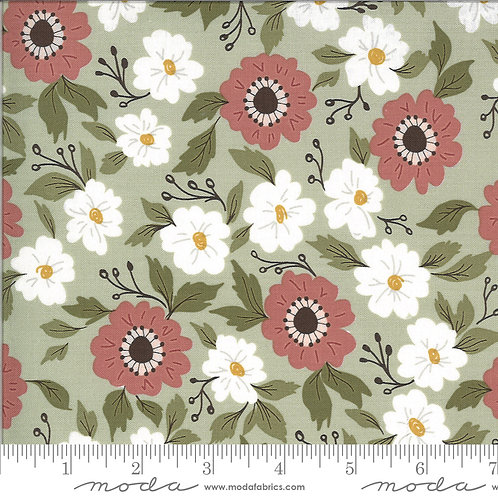 Folktale 5120 14 Sage Green Floral Moda Lella Boutique