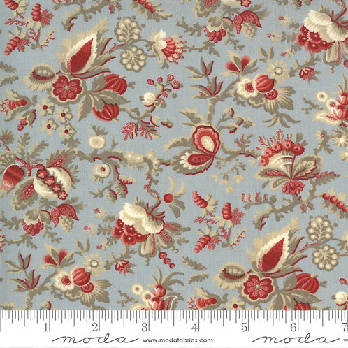 Jardin de Fleurs 13892 19 Blue Floral Moda French General