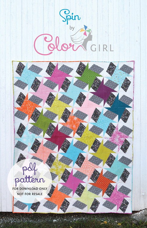 Color Girl SPIN Layer Cake Pattern