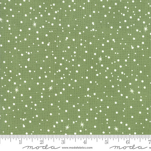 Naughty or Nice 30637 19 Green Dots Moda Basic Grey