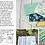 Thumbnail: Flour Garden 23321 14 Seafoam Floral Moda Linzee McCray