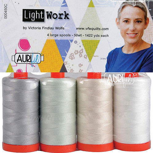 Aurifil Thread LIGHTWORK 4 spools 50wt