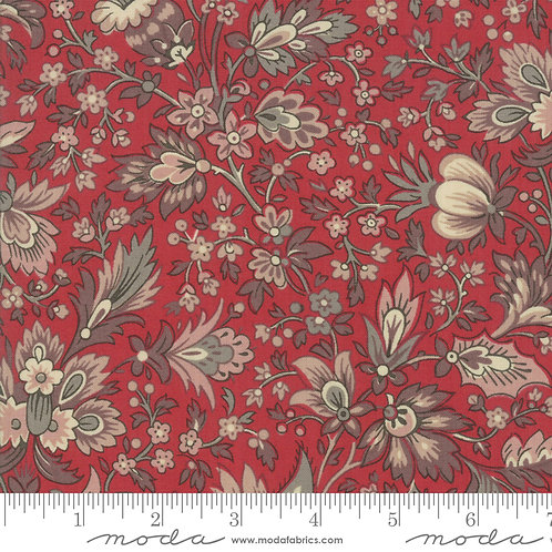 Chafarcani 13860 11 Red Beige Floral Moda French General
