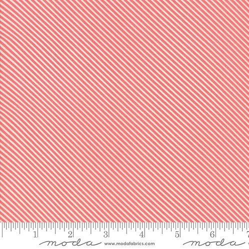 Garden Variety 5075 16 Berry Red Diagonal Stripe Moda Lella Boutique